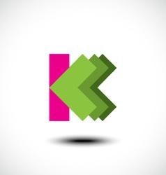 Letter K logo icon design template element vector image vector image