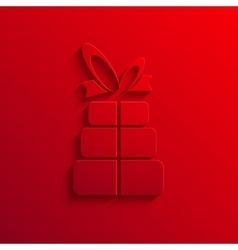 Modern gift light icon background vector