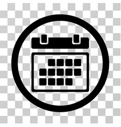 month calendar rounded icon vector image