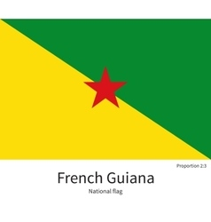 National flag of french guiana with correct vector
