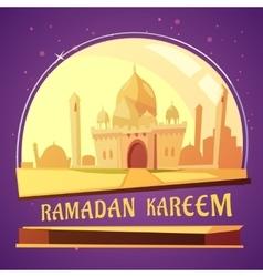 Ramadan kareem mosque vector