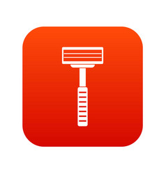 razor icon digital red vector image vector image