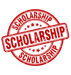 Scholarship stamp vector