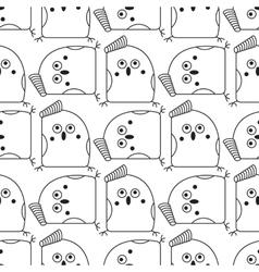 Seamless abstract bird pattern vector
