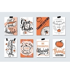 set of thanksgiving holidays vector image vector image