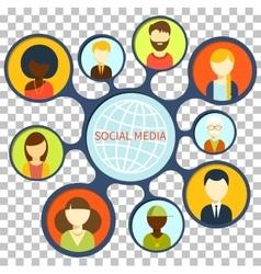 Social Media Design Flat Concept vector image vector image