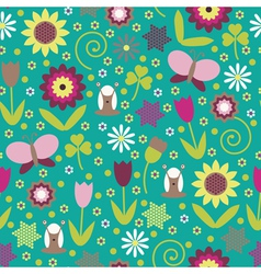 Summer seamless background vector image vector image
