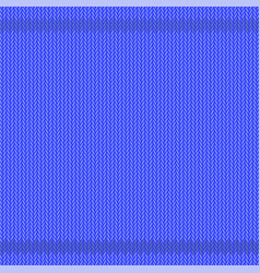 winter knitted blue pattern textile background vector image
