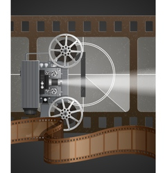 With movie projector vector