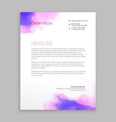 Flowing ink corporate letterhead brochure vector