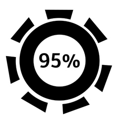 Ninety five percent download icon simple style vector