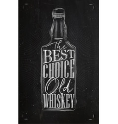 Poster whiskey best choice vector