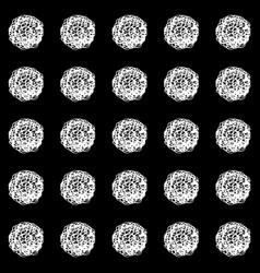 Hand drawn polka dot seamless pattern vector