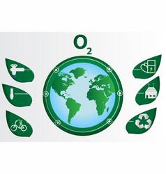 Paper art ecology world vector