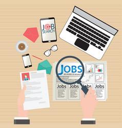 job search design vector image