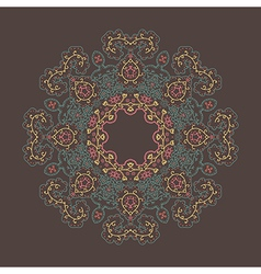 colorful of round floral ornament vector image
