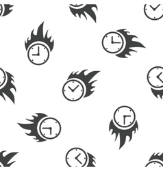 Burning clock pattern vector