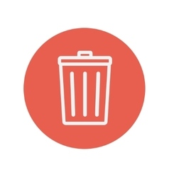 Trash can thin line icon vector