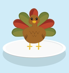 A festive turkey vector