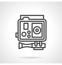 Action camera black simple line icon vector
