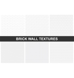 Brick wall textures - seamless vector