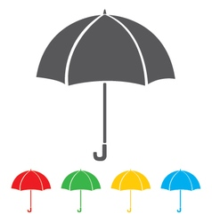 Umbrella icon isolated on white background vector