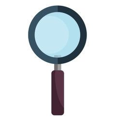 Magnifying glass isolated flat icon vector