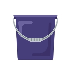 Blue flat empty bucket icon logo vector image vector image