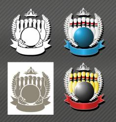 bowling league vector image