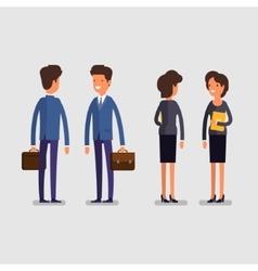 Business concept cartoon businessman and woman vector