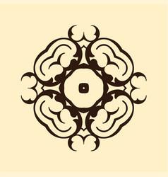 colored ornamental logo vintage retro ornament vector image