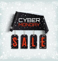 cyber monday sale winter design vector image vector image