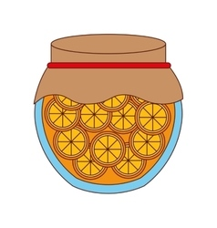 Delicious orange fruit preserves isolated icon vector