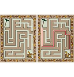 Easy autumn maze vector image vector image