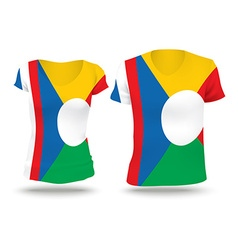 Flag shirt design of reunion vector