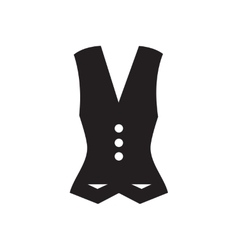 Flat icon in black and white waistcoat vector