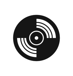 Gramophone vinyl lp record icon simple style vector