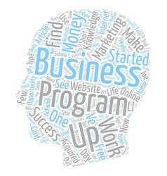 How My Business Began text background wordcloud vector image vector image