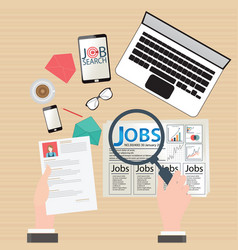 Job search design vector