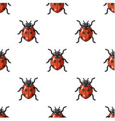Ladybug icon in cartoon style isolated on white vector