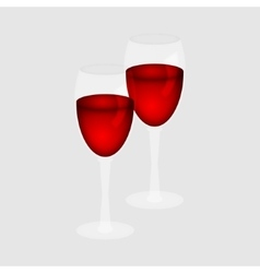 Red wine in a glass vector image
