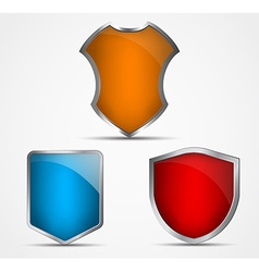 Set of icons of different colors and shapes of vector