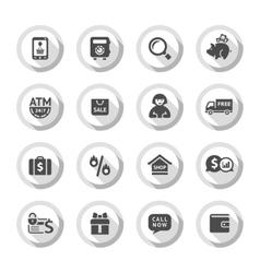 Shopping flat icons set 04 vector image vector image