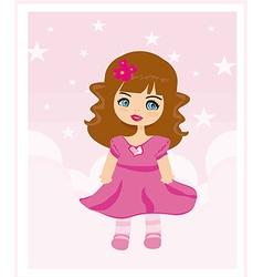 sweet little girl card vector image vector image