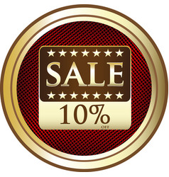 ten percent sale icon vector image