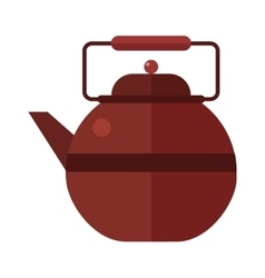 Traditional tea ceremony gray teapot with cup on vector image vector image