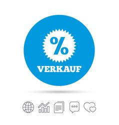 Verkauf - sale in german sign icon star vector