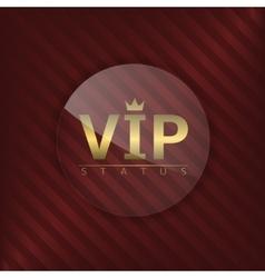 VIP status glass label vector image