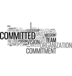 What should you be committed to text word cloud vector