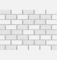 White old brick background vector